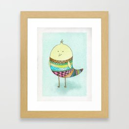 Little Claire's Bird Framed Art Print