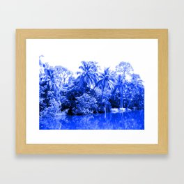 Florida in Blue Framed Art Print