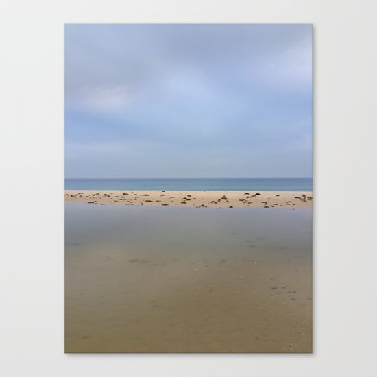 """Peace..."" Lake, sand, sea and sky... Canvas Print"
