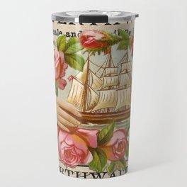 Ship and Roses Travel Mug
