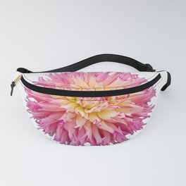 Pink Dahlia on a transparent background Fanny Pack