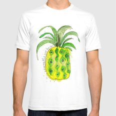 Pineapple (NOT under the sea) Mens Fitted Tee White MEDIUM