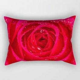 Wet Rose Macro Rectangular Pillow