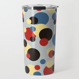 Multicolor Classic Abstract Minimal Summer Style Dots Travel Mug