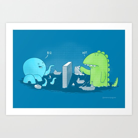 You Sunk My Navy! Art Print