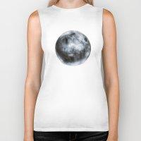 dark side of the moon Biker Tanks featuring The Dark Side of the Moon by Viviana Gonzalez