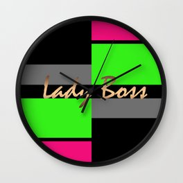 Lady Boss 1 Wall Clock