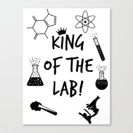 King of The Lab 2 Canvas Print