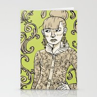 baroque Stationery Cards featuring Baroque  by Danielle Feigenbaum
