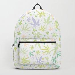 Cute Pastel Cannabis Pattern Backpack