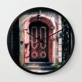 Behind The Red Door Wall Clock