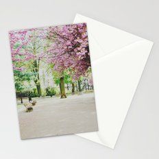 french cherry blossom Stationery Cards