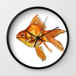 Gold Fish Painting Wall Art Wall Clock
