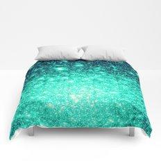 Stars Ombre Cool Aqua & Teal Comforters