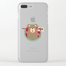 Grizzly Love BBQ Sausage Clear iPhone Case