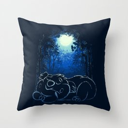 Peaceful Sleepy Koala Bear Throw Pillow