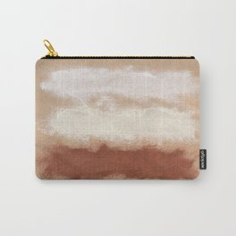 Rothko Inspired Spiced Berry Canyon Dusk 001 Mixed Stripe Modern Art Comforter Pillow #society6 Carry-All Pouch