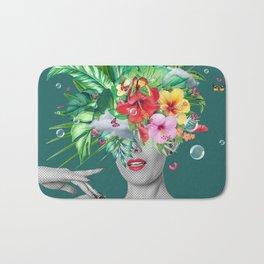 portriat floral Bath Mat