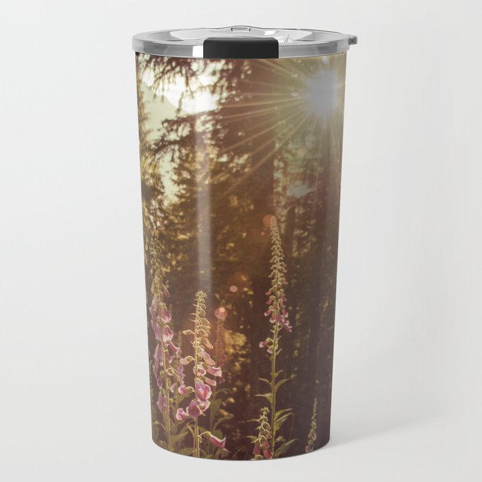 A New Day Wildflowers at Dawn - Nature Photography Travel Mug