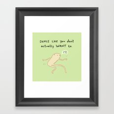 Dance Motivation Framed Art Print