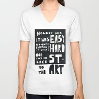 coldplay V-neck T-shirts featuring stART by Ines92