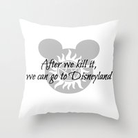 supernatural Throw Pillows featuring Supernatural by kltj11