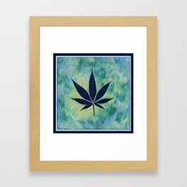 Blue Hemp Framed Art Print