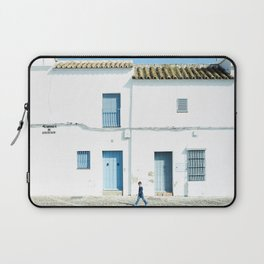 White and blue town Laptop Sleeve