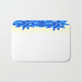 Decorative  Opulent Baby Blue Dahlia Flowers Art Work Design Bath Mat
