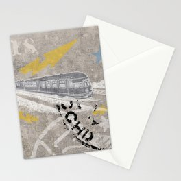 Train Of Thought Derailed Stationery Cards