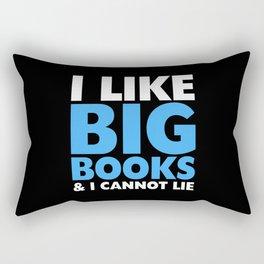 I LIKE BIG BOOKS AND I CANNOT LIE (Blue) Rectangular Pillow