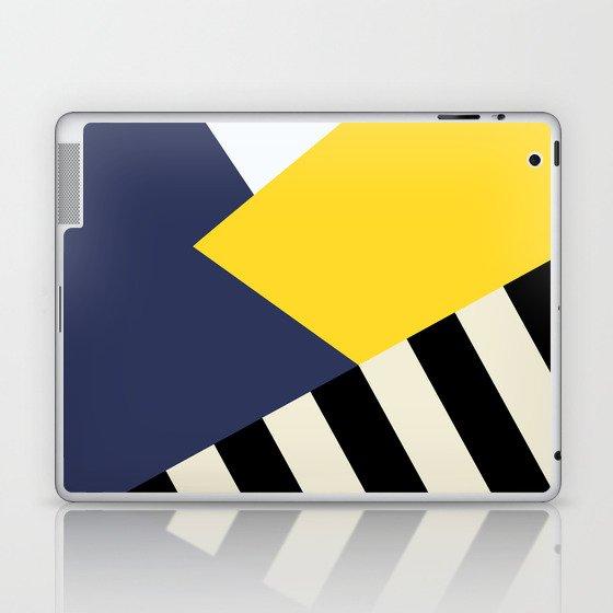 Bold Yellow Memphis Triangle Laptop & iPad Skin