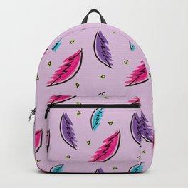 Boho Feathers Pattern Backpack