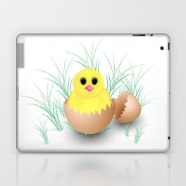 Chicken, chick, peeper, yellow chicken, egg shell, egg, shell, Easter, Easter chicken Laptop & iPad Skin