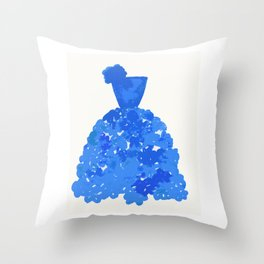 A Pretty Blue Dress Throw Pillow