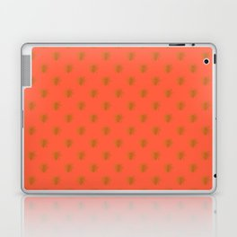 Golden Bees in Faux Metallic Photo Effect Shiny Gold Foil on Coral Laptop & iPad Skin