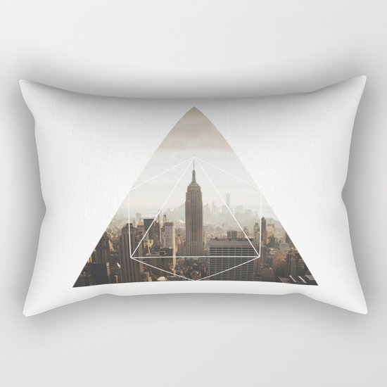 Empire State Building - Geometric Photography Rectangular Pillow