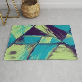 Spring Night Color Play Digital Oil Painting Rug