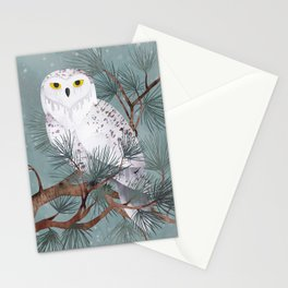Snowy Stationery Cards
