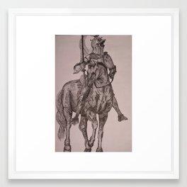 Pen & Ink Knight Framed Art Print