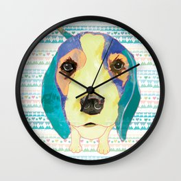 Beach Dog  • Camilo -Beagle Wall Clock