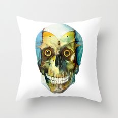 SKULL#02 Throw Pillow