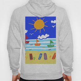 Naive Beach - Blue & Gold  Hoody