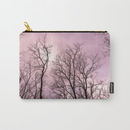 Naked trees, pink cloudy sky Carry-All Pouch