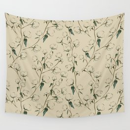 Cotton Bolls Wall Tapestry
