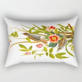 Seaside Finch Bird Rectangular Pillow