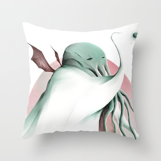 Cthulhu, conqueror of all worlds Throw Pillow