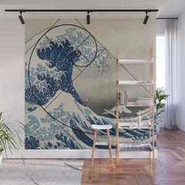 Great Wave of Kamagawa - Fibonacci Spiral Wall Mural