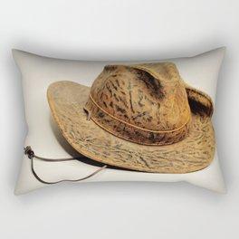 Leather Cowboy Hat Rectangular Pillow