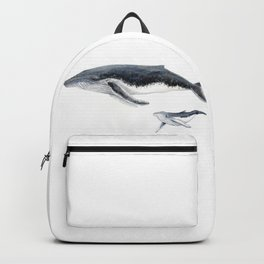 Humpback whale mother and humpback whale baby Backpack